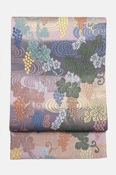銀座【帯3147】西陣 丸勇製 唐織 袋帯 (反端・西陣証紙付)(N)