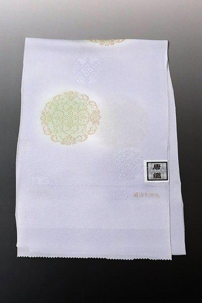 銀座【G-1372】京都衿秀 帯揚げ 白藤色 華文(N)