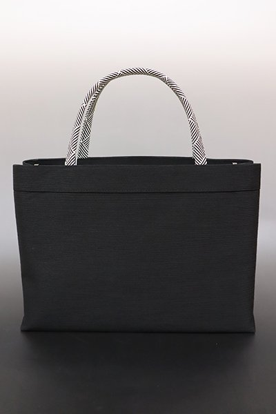 銀座【G-1379】京都衿秀 楊柳×組紐 トートバッグ 黒色