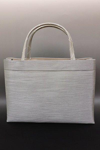 銀座【G-1380】京都衿秀 楊柳×組紐 トートバッグ 鼠色