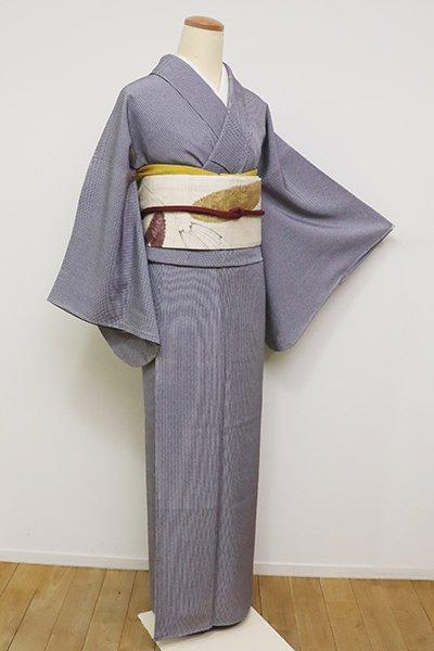 銀座【C-1740】(S)江戸小紋 褐色 子持ち縞