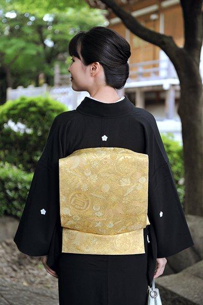銀座【帯3160】西陣 川島織物製 本金 本袋帯
