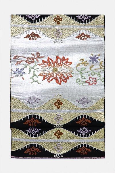 銀座【帯3164】龍村平蔵製 本袋帯 銘「天竺唐花」