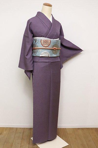 銀座【C-1757】(S・広め)江戸小紋 繍一ッ紋 滅紫色 鮫(落款入)
