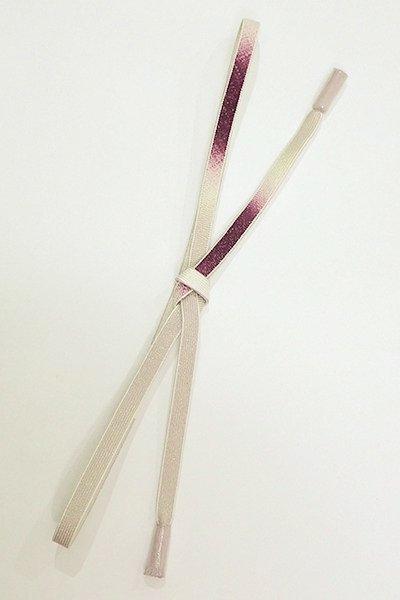 銀座【G-1403】京都 衿秀製 帯締め 平組 二色暈かし 潤色×葡萄色(新品)