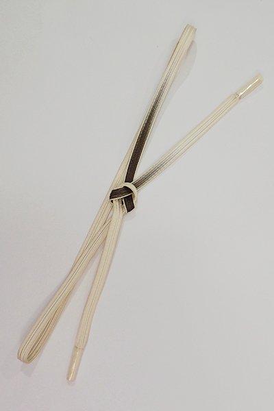 銀座【G-1411】京都 衿秀製 帯締め 畝打組 憲法色×練色 二色暈かし(新品)