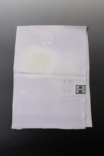銀座【G-1415】京都 衿秀製 帯揚げ 牡丹鼠色×鳥の子色 華文(新品)
