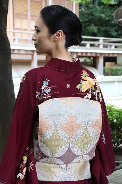 銀座【帯3175】西陣 河合美術織物製 袋帯