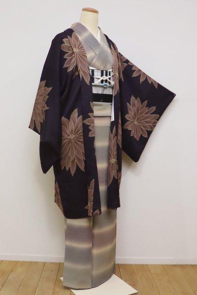 銀座【E-1107】羽織 滅紫色 菊の図