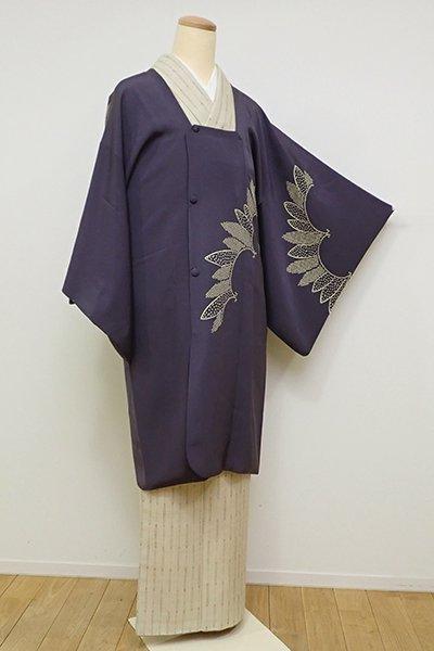 銀座【E-1110】絵羽 道行コート 褐色 装飾文(大丸扱い)