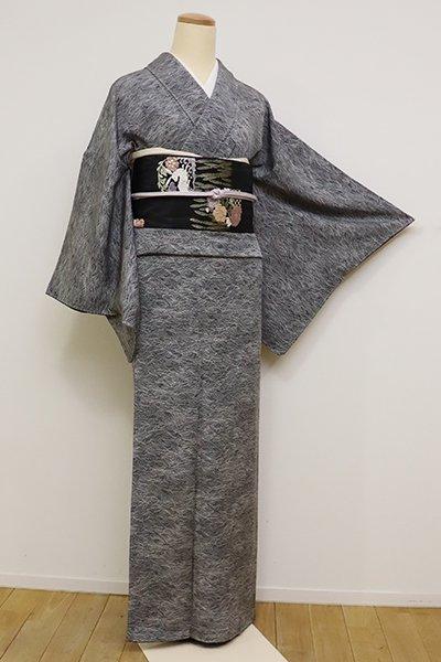 銀座【C-1764】(広め)江戸小紋 藍鉄色 波文