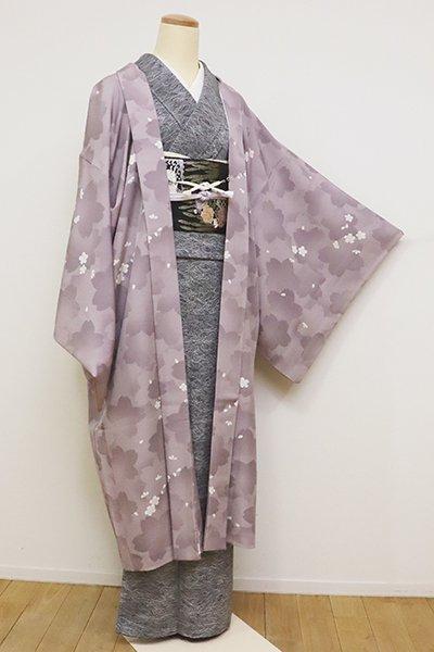銀座【E-1123】(広め)羽織 薄色 桜の図