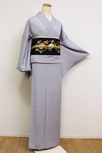 銀座【C-1765】江戸小紋 藍鉄色 万筋(落款入)
