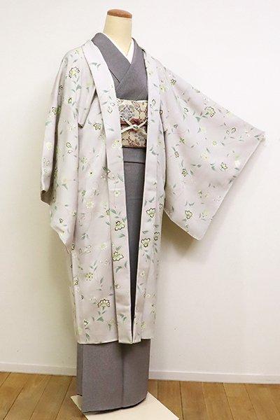 銀座【E-1138】羽織 潤色 唐花文(反端付)(N)