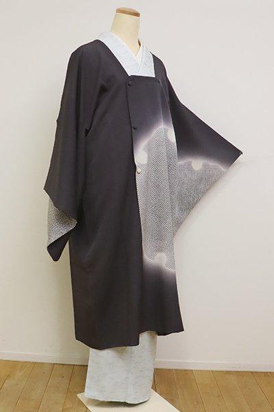 銀座【E-1142】絵羽 道行コート 褐色 大雪輪文