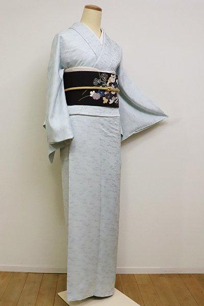 銀座【C-1767】色無地 藍白色 桐竹鳳凰文