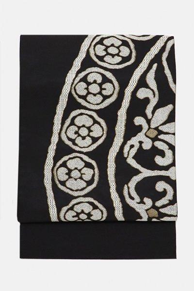 銀座【帯3193】西陣 織楽浅野製 袋帯 (反端・証紙付)