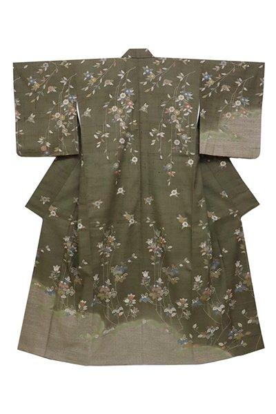 銀座【着物2640】京都しょうざん製 生紬地 訪問着