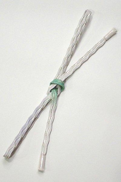 【G-1444】京都衿秀 帯締め 変わり貝の口組 白色×青磁色×暁鼠色 三色暈かし(新品)