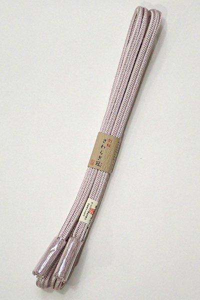銀座【G-1449】京都 衿秀製 帯締め 冠組 鴇鼠色(新品)