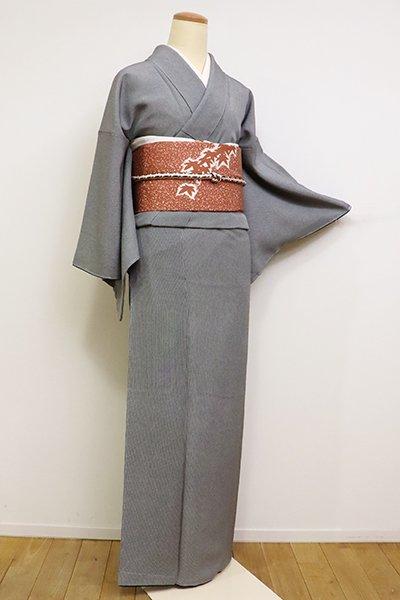 銀座【C-1771】(細め)伝統工芸士 砂川健一作 江戸小紋 黒色 万筋(落款入)