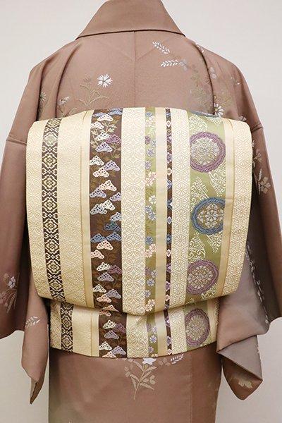銀座【L-4801】袋帯 砥粉色 鬘帯文