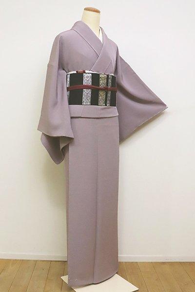 銀座【C-1774】(L)繍一ッ紋 色無地 鳩羽鼠色(反端付)
