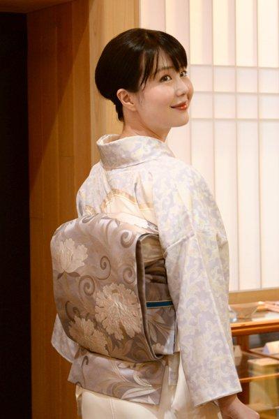 銀座【帯3199】渡辺雪三郎 袋帯 (落款入・京都しょうざん製)