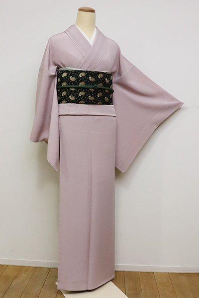 銀座【C-1776】繍一ッ紋 色無地 灰桜色(反端付)