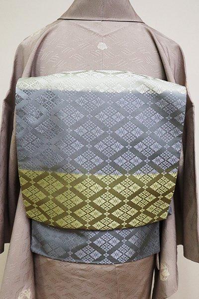 銀座【L-4841】袋帯 多彩な横段に花菱文