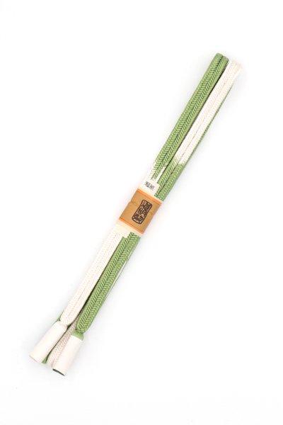 あおき【G-1467】道明 帯締め 冠組 段染 柳染色系(未使用)