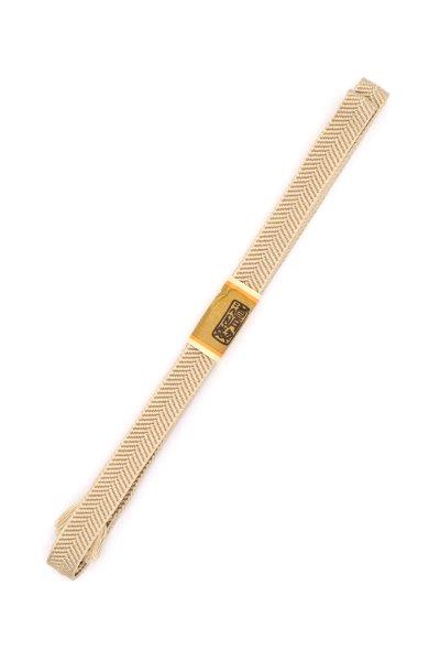 あおき【G-1476】道明 帯締め 笹浪組 枯野色系(未使用)