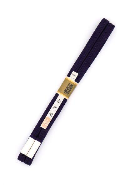 あおき【G-1483】道明 帯締め 冠組 古代紫色(未使用)