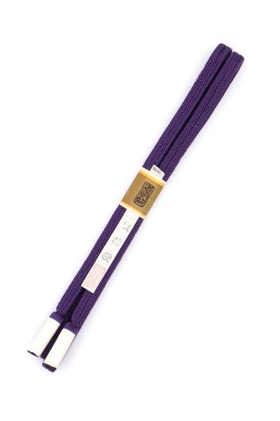 【G-1484】道明 帯締め 冠組 紅桔梗色(未使用)