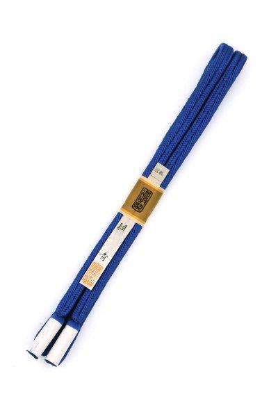 あおき【G-1487】道明 帯締め 冠組 紺青色(未使用)