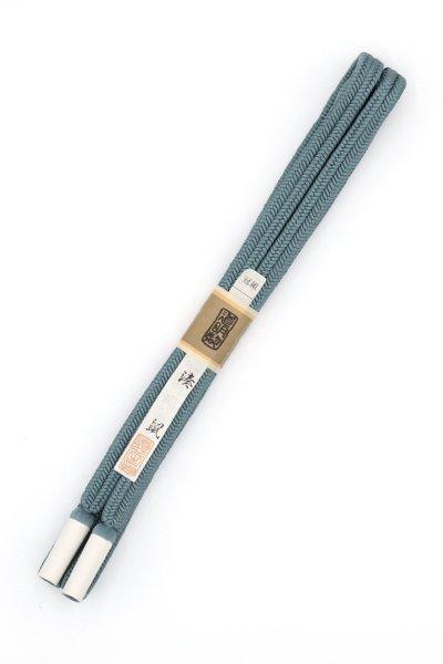 あおき【G-1488】道明 帯締め 冠組 湊鼠色(未使用)