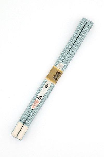 【G-1489】道明 帯締め 冠組 青磁色(未使用)