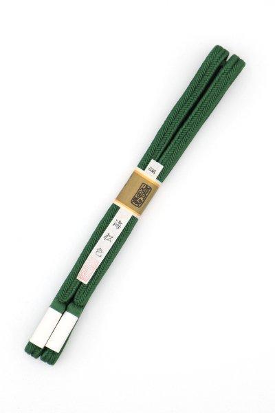 あおき【G-1491】道明 帯締め 冠組 海松色(未使用)