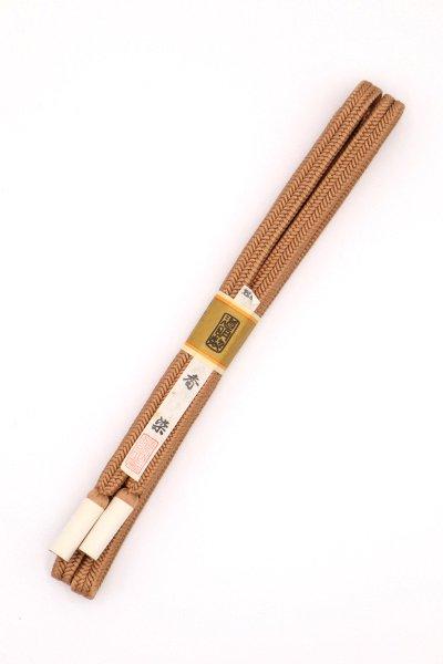 あおき【G-1494】道明 帯締め 冠組 香染色(未使用)