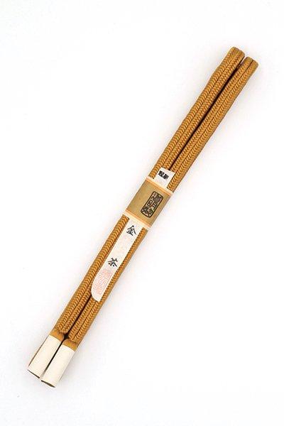 あおき【G-1495】道明 帯締め 冠組 金茶色(未使用)