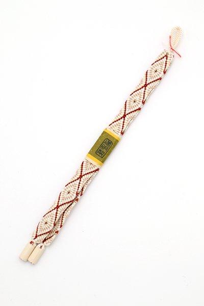 あおき【G-1510】道明 羽織紐 唐組 錆朱色系(未使用)