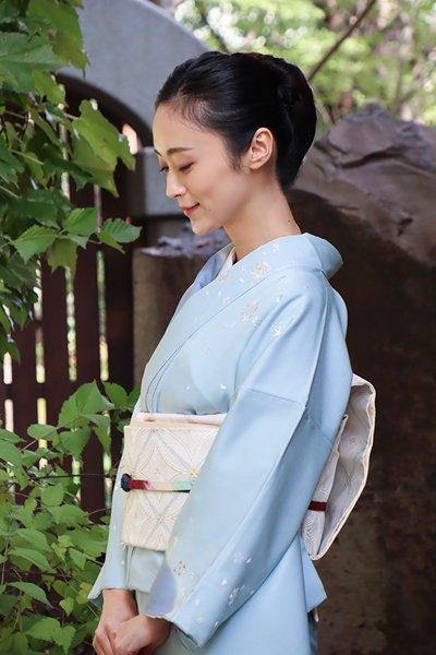 銀座【帯3214】西陣 河合美術織物製 袋帯 (西陣証紙付)