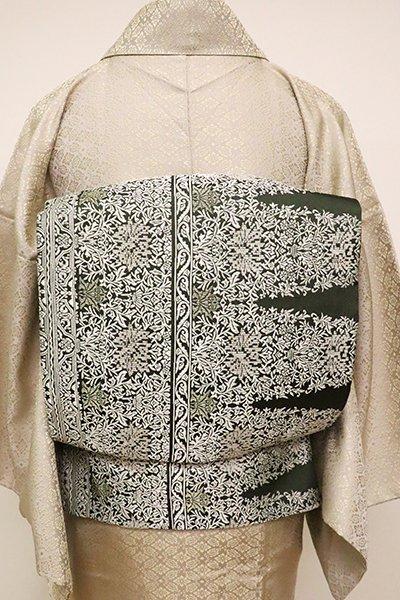 銀座【L-4874】袋帯 革色 装飾文様