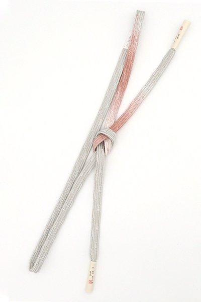 銀座【G-1512】京都衿秀製 手組帯締め 変わり貝の口 白鼠色×鴇浅葱色 二色暈かし(新品)