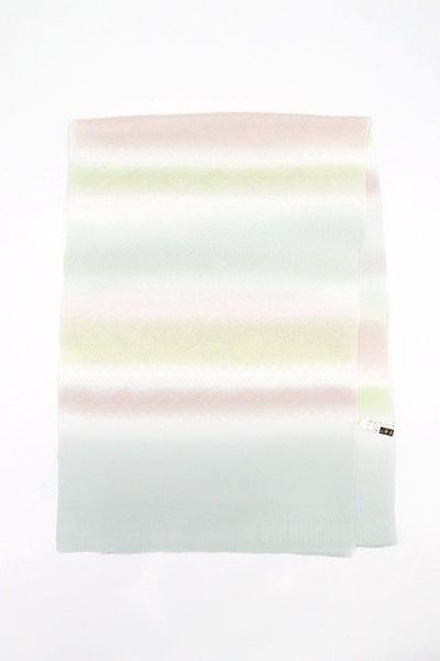 銀座【G-1523】京都 衿秀 帯揚げ 藍白色×灰梅色×若菜色 段暈かし(新品)