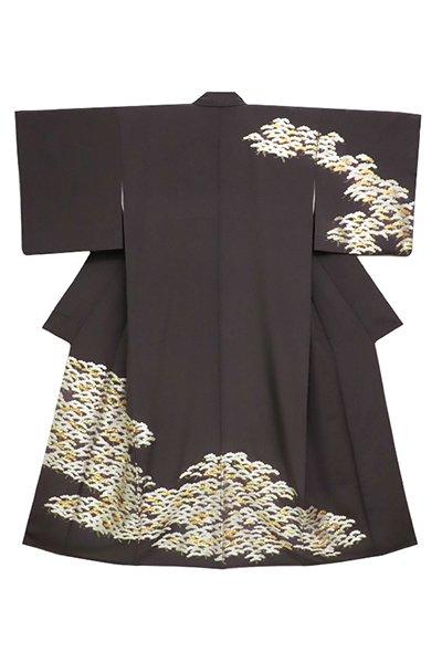 銀座【着物2665】蘇州刺繍 訪問着 檳榔子染色 松の図