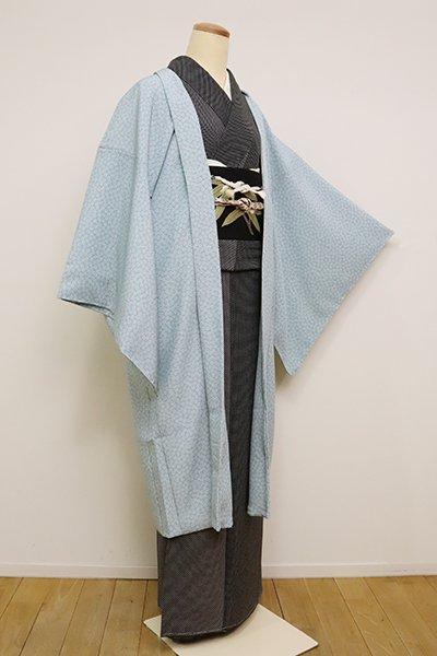 銀座【E-1174】羽織 秘色色 梅鉢文(反端付)(N)