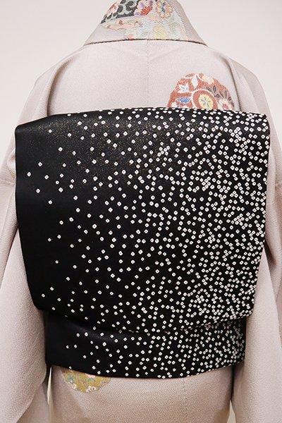 銀座【K-6491】織名古屋帯 黒色 抽象文