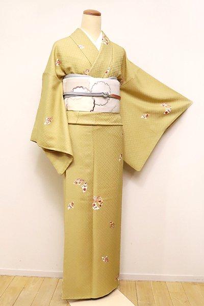 銀座【D-2424】(細め)小紋 木蘭色 銀杏雪輪文