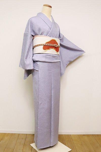 銀座【C-1791】(S)繍一ッ紋 色無地 藤色